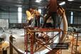 不銹鋼月亮雕塑鶴群環繞展翅高飛