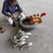 不銹鋼景觀魚群雕塑