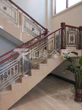 鋁板雕刻護欄酒店別墅樓梯護欄裝飾