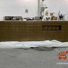 黄古铜水疗中心吧台,创意水波纹吧台,酒店大堂不锈钢吧台