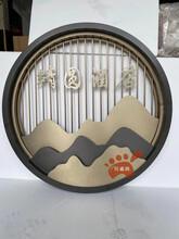 圓形不銹鋼隔斷,不銹鋼山巒屏風,雙色圓形屏風,酒店裝飾屏風圖片