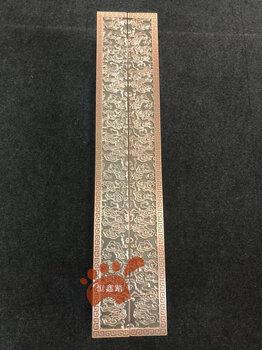 新中式鋁雕刻大門拉手玻璃門木門古銅色把手扶手定制刻字