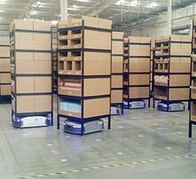 仓库智能货架,电商货架,分拣货架,机器人拣选货架图片
