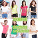 廠家直銷夏季新款T恤便宜女裝短袖純棉T恤特價清倉庫存女式T恤便宜地攤T恤批發
