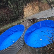 湖北养殖圆形镀锌板支架水池湖南圆形帆布支架网箱厂图片