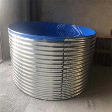 广西养殖镀锌板圆形养殖帆布水池网箱鱼池支架厂家图片