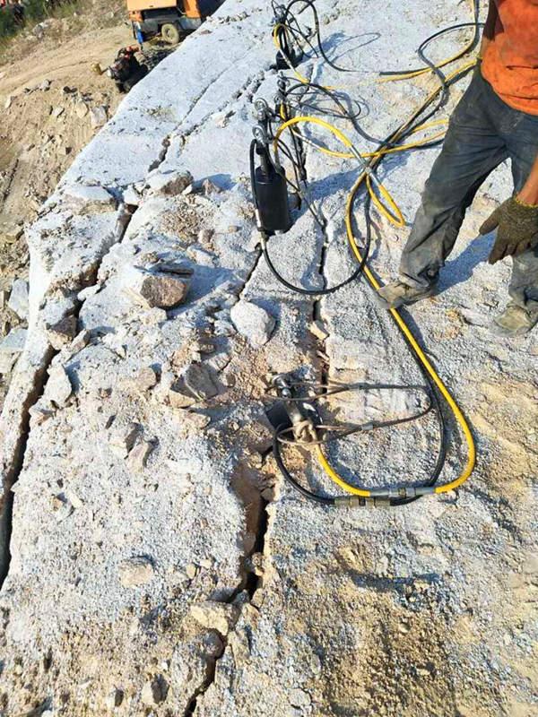 岩石破碎石方开挖破碎开采替代放炮设备一低投入高回报珠海