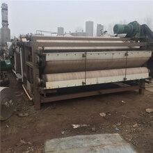 出售工地打桩用污水处理设备二手3x12米带式压滤机二手污泥脱水机图片