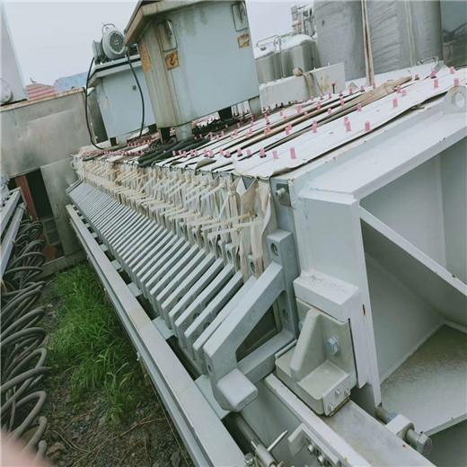 大量回收二手自动压滤机二手400平方厢式压滤机