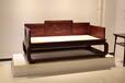 赞比亚血檀席面罗汉床,全手工编织,长度2米宽1米,檀雕工艺,烫蜡精工