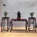 紫珍轩赞比亚血檀条案花架三件套实木中堂明式简约供桌供案批发
