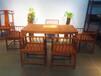 仙游红木厂家供应赞比亚血檀茶桌会议桌办公桌经典明式马蹄腿四平案茶台厂家批发