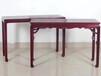 仙游紫珍轩红木家具厂批发赞比亚血檀马蹄足条案中式实木供桌红木客厅家具平头案