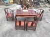 仙游赞比亚血檀家具厂批发供应圈椅茶桌六件套,经典对纹古典中式实木茶台会客桌
