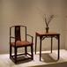 仙游赞比亚血檀家具厂家官帽椅圈椅明式实木席面官帽椅三件套可烫蜡可做漆