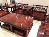 厂家定制赞比亚血檀新中式沙发九件套实木客厅简约家具沙发组合