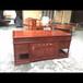 福建仙游紫珍轩红木家具厂仿古中式刺猬紫檀班台实木古典办公桌椅家具两件套