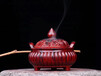 印度小叶紫檀莲花香炉香道香具木雕摆件熏香炉工艺品