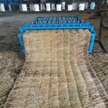大棚保溫麥草編織機電動草墊機