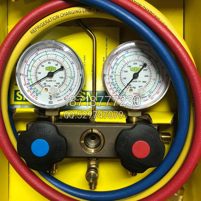 REFCO威科空调加氟表BM2-6-DS-R22/R134A/R404A
