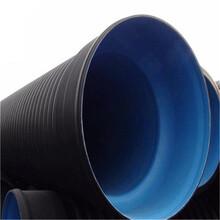 南阳HDPE钢带增强螺旋波纹管DN500连接管道处图片