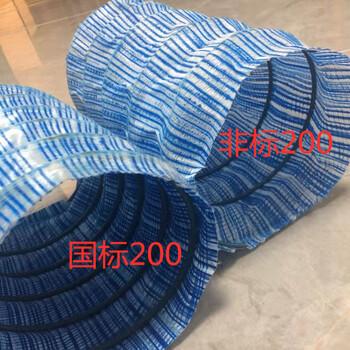 北京直径200弹簧软式透水管国标和非标分别价格