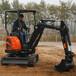 江西靖安山丘碎石小型挖掘機家用小挖機廠家直銷