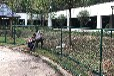 茂名園區鍍鋅勾花網欄住宅小區籃球場護欄壽命長普通噴塑PVC勾花網