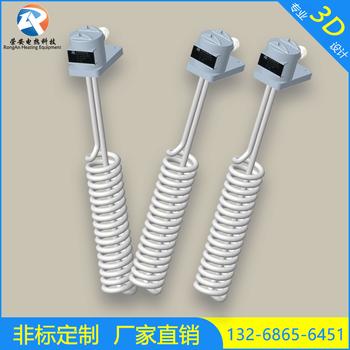 3KW铁氟龙发热管电镀氧化硝酸盐酸直立螺旋型铁氟龙电加热管