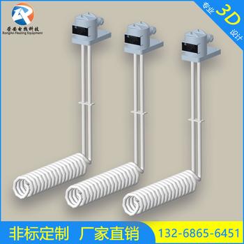 鐵氟龍電加熱管電鍍化拋鍍金L螺旋型耐酸堿鐵氟龍液體發熱管
