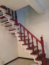 实木楼梯不锈钢护栏立柱图片
