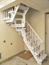 斜梁楼梯加工生产各种钢木楼梯实木楼梯,及护栏图片