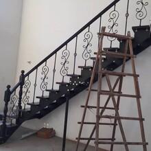 實木樓梯鋼木雙梁樓梯批發圖片