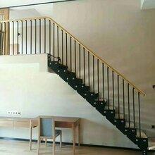 实木楼梯钢木-实木楼梯生产厂家图片