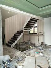 楼梯护栏拦河弧形扶手立杆图片