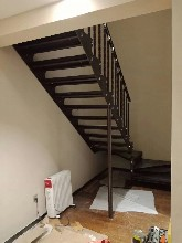 钢木楼梯厂家报价图片