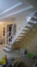 实木楼梯玻璃楼梯扶手厂家图片
