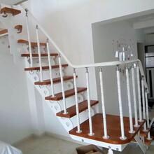 重型卷板楼梯实木扶手椅子图片