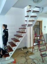 重型卷板楼梯玻璃楼梯扶手价格图片