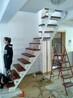 楼梯配件锌钢玻璃楼梯护栏