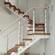 斜梁楼梯双层钢板玻璃