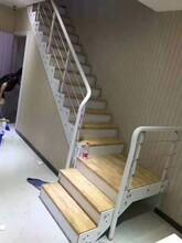 钢木楼梯双侧大梁图片