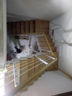 玻璃楼梯不锈钢护栏立柱定制,图片3