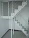 阁楼楼梯实木弧形扶手制作