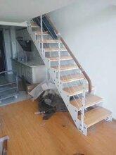 双梁楼梯钢木楼梯图片