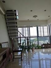 玻璃樓梯波形護欄立柱定制圖片