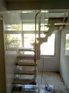 玻璃楼梯不锈钢护栏立柱定制,图片5