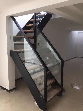 钢木楼梯实木楼梯护栏旋转楼梯图片