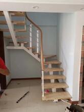 中柱旋转楼梯北京实木楼梯厂家直销图片