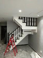 阁楼楼梯钢木双梁楼梯价格图片